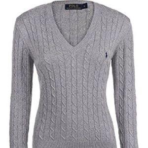 Ralph Lauren l Classic Gray V Neck Sweater Preppy